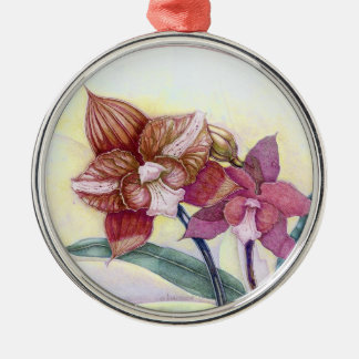 Orchids Metal Ornament