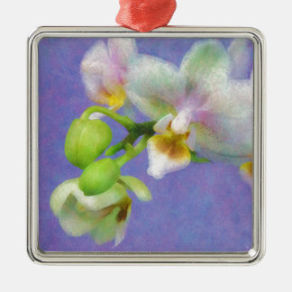 Orchids Metal Ornament