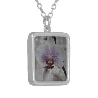 Orchids (Necklace) Square Pendant Necklace