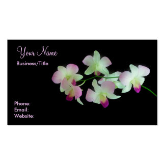 Orchids on Black Business Cards
