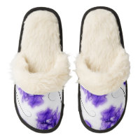 Orchids Pair Of Fuzzy Slippers
