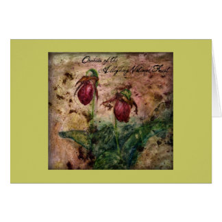 orchids pair stationery note card