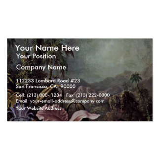 Orchids Passion Flowers And Hummingbirds By Martin Double-Sided Standard Business Cards (Pack Of 100)