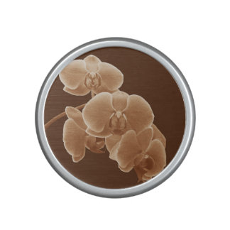 Orchids Photo to Paint in Sepia Bluetooth Speaker