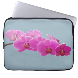 Orchids Photo to Paint on Blue II Laptop Computer Sleeves