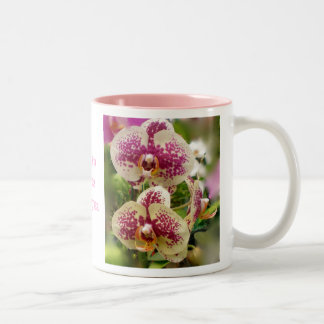 Orchids Pink Two-Tone Coffee Mug