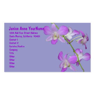 Orchids Purple Lavender Double-Sided Standard Business Cards (Pack Of 100)