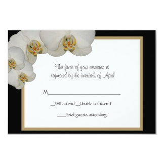 Orchids RSVP Card
