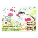 orchids splatter large business cards (Pack of 100)