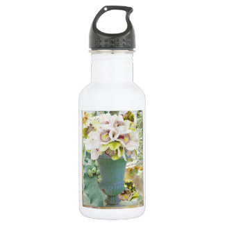 Orchids Stainless Steel Water Bottle