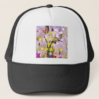 Orchids,Tennis and Nature Trucker Hat