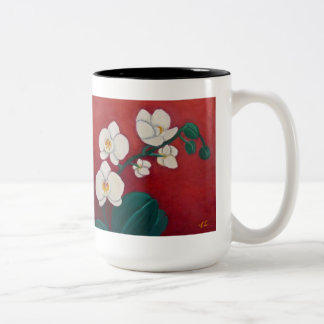 Orchids Two-Tone Mug