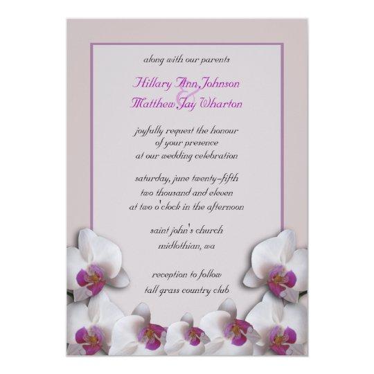 Orchids Wedding Invitation