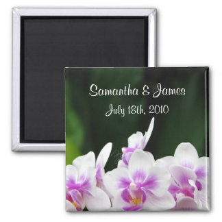 Orchids Wedding Magnet