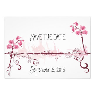 Orchids Wedding Save the Date Card