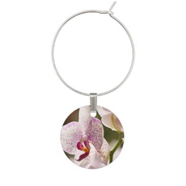 shirleytaylor Orchids Wine Glass Charm