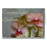 Orchids Young Woman Graduation Congratulations Greeting Card