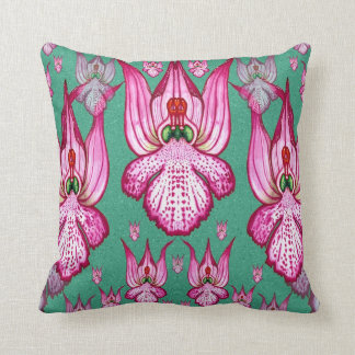 Orchis tridentata throw pillow