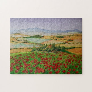 Orcia valle en Toscana, Italia Puzzles