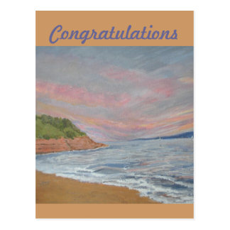 Orcombe Point Exmouth Congratulations card