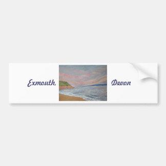 Orcombe Point Exmouth Devon UK Bumper Sticker