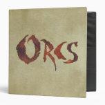 Orcs 3 Ring Binder