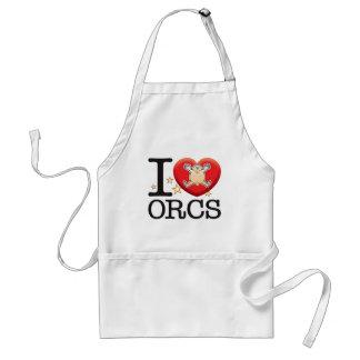 Orcs Love Man Adult Apron