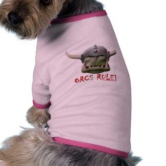 Orcs Rule Dog Tshirt