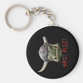 Orcs Rule! Basic Round Button Keychain