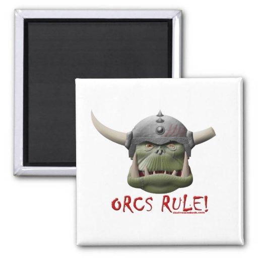 Orcs Rule! Refrigerator Magnet