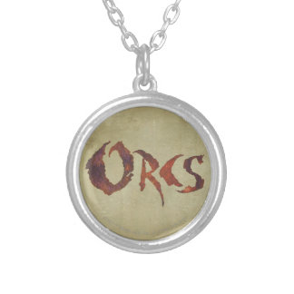 Orcs Silver Plated Necklace