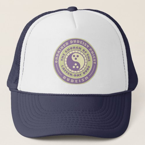 Ordained Dudeist Priest Emblem Trucker Hat