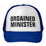 ordained minister mesh hat
