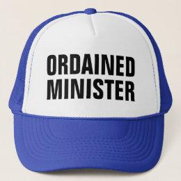ordained minister trucker hat