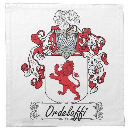 Ordelaffi Family Crest Printed Napkin
