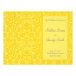 Orden amarilla del boda del programa del servicio  flyer a todo color