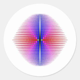 Orden curva pegatina redonda
