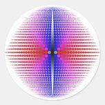 Orden curva pegatinas redondas