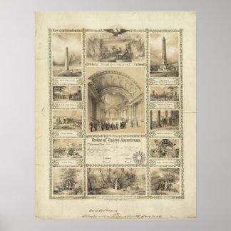 Orden de americanos unidos de M. Lafever Posters