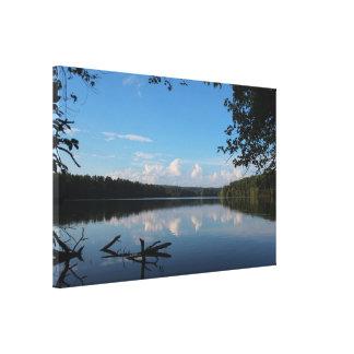 ORDEN DE ENCARGO del depósito del cuervo del lago Impresión En Lona Estirada