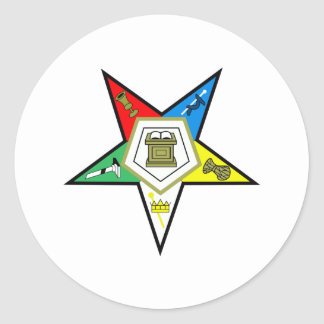 Orden de la estrella del este pegatina redonda