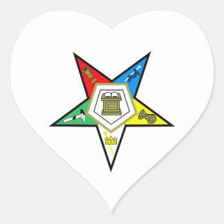 Orden de la estrella del este pegatina en forma de corazón