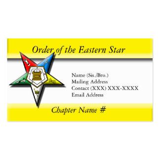 Orden de la estrella del este plantillas de tarjeta de negocio