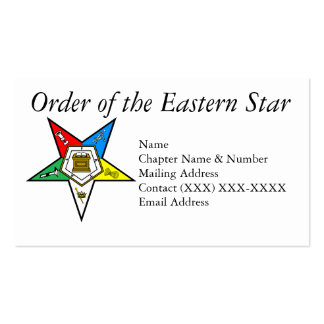 Orden de la estrella del este tarjeta personal