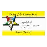 Orden de la estrella del este tarjetas de visita