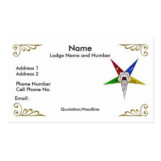 Orden de la tarjeta del este del perfil/de visita tarjetas de visita