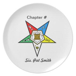 Orden de OES de la placa del este de la estrella Plato Para Fiesta