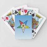 Orden de OES del azul del este de la estrella Baraja Cartas De Poker
