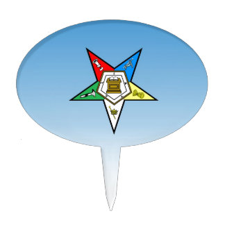 Orden de OES del azul del este de la estrella Decoración Para Tarta