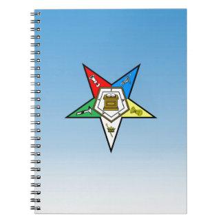 Orden de OES del azul del este de la estrella Libreta Espiral